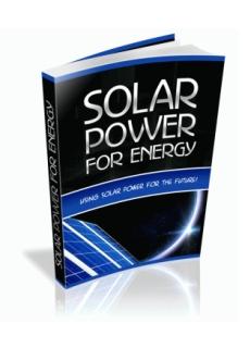 Solar Power for Energy